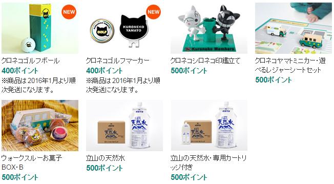 クロネコポイントの商品003